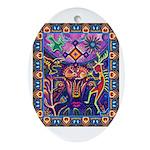 Huichol Dreamtime Ornament (Oval)