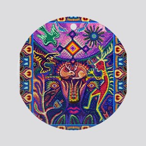 Huichol Dreamtime Ornament (Round)