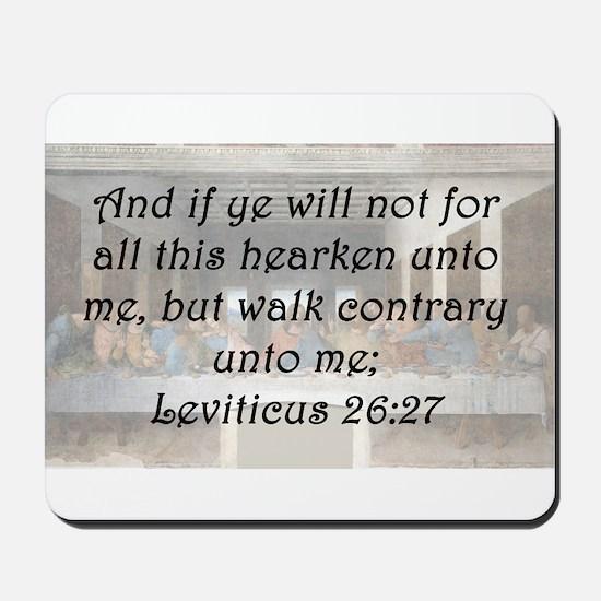 Leviticus 26:27 Mousepad