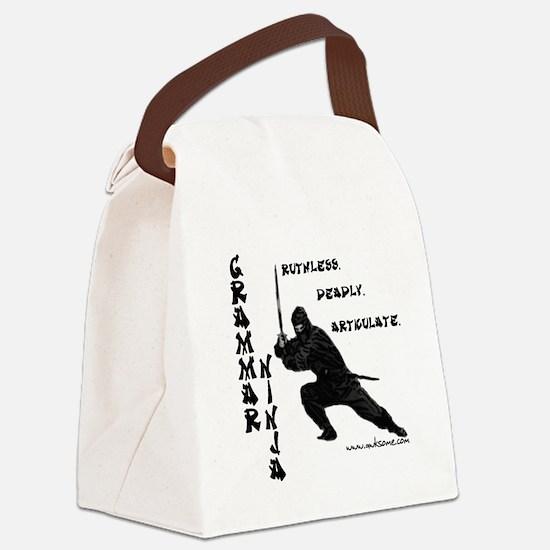 """Grammar Ninja"" Canvas Lunch Bag"