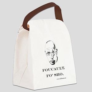 """""""Foucault, Fo' sho"""" Canvas Lunch Bag"""