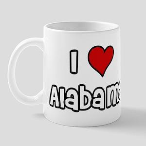 I Love Alabama Mug