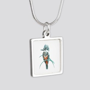 Watercolor Painting Kingfisher Bird Necklaces