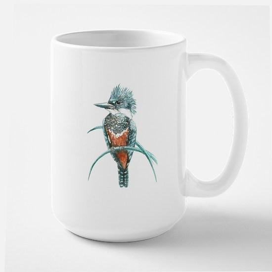 Watercolor Painting Kingfisher Bird Ceramic Mugs