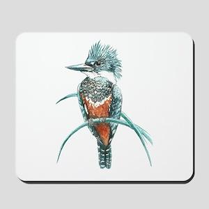Watercolor Painting Kingfisher Bird Mousepad