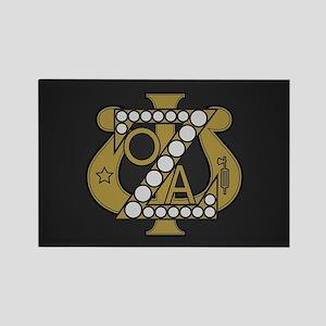 Zeta Psi Badge Rectangle Magnet