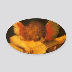 Musician Angel by Fiorentino Oval Car Magnet
