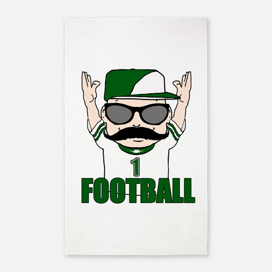 Football green 3'x5' Area Rug