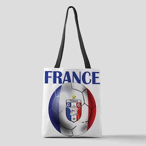 France Soccer Football Polyester Tote Bag