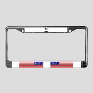 Football green License Plate Frame