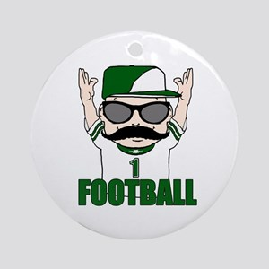Football green Ornament (Round)