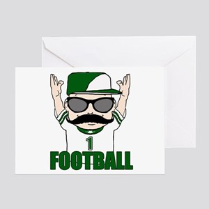 Football green Greeting Card