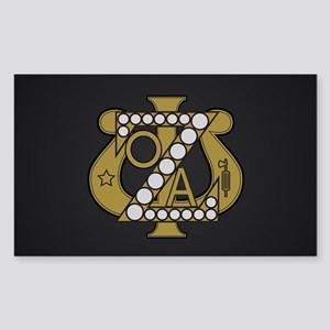 Zeta Psi Badge Sticker (Rectangle)