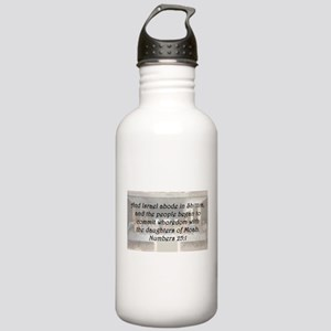 Numbers 25:1 Water Bottle