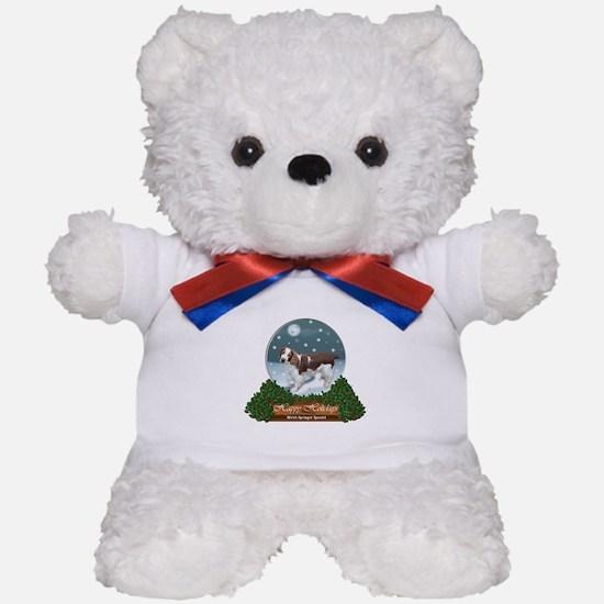 Welsh Springer Spaniel Christmas Teddy Bear