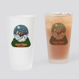 Welsh Springer Spaniel Christmas Drinking Glass