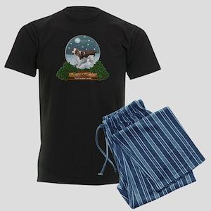 Welsh Springer Spaniel Christm Men's Dark Pajamas