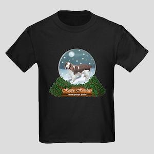 Welsh Springer Spaniel Christmas Kids Dark T-Shirt