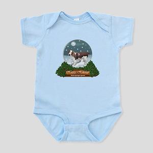 Welsh Springer Spaniel Christm Baby Light Bodysuit