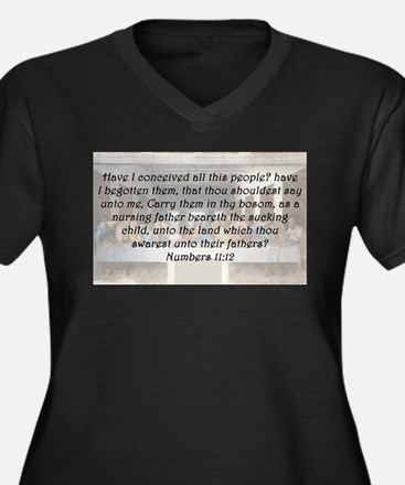 Numbers 11:12 Plus Size T-Shirt
