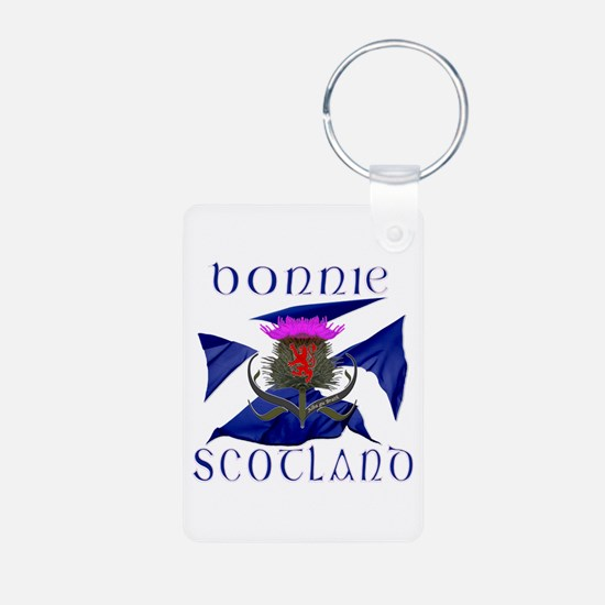 Bonnie Scotland flag design Keychains
