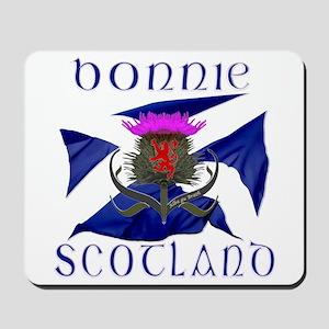 Bonnie Scotland flag design Mousepad