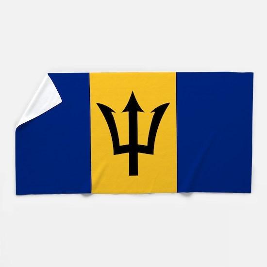 Flag of Barbados Beach Towel