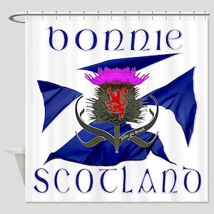 Bonnie Scotland flag design Shower Curtain