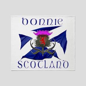 Bonnie Scotland flag design Throw Blanket