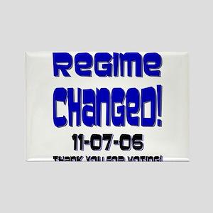 Regime Changed - Baveuse Rectangle Magnet