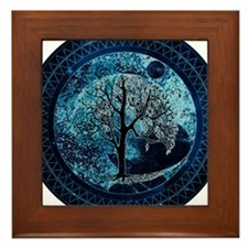 Tree of Life Midnight Sky Framed Tile