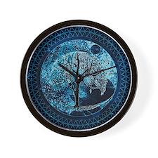 Tree of Life Midnight Sky Wall Clock