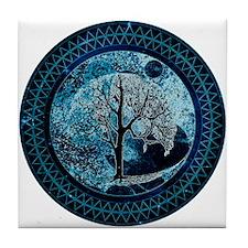 Tree of Life Midnight Sky Tile Coaster