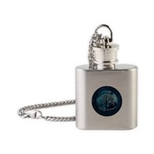 Tree of Life Midnight Sky Flask Necklace