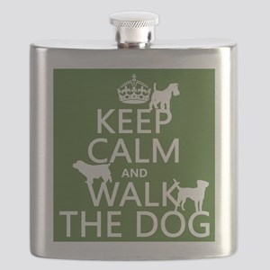 Keep Calm and Walk The Dog Flask