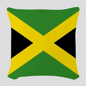 Jamaican Flag Woven Throw Pillow