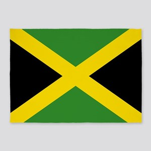 Jamaican Flag 5'x7'Area Rug
