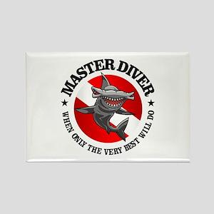 Master Diver (Hammerhead) Rectangle Magnet