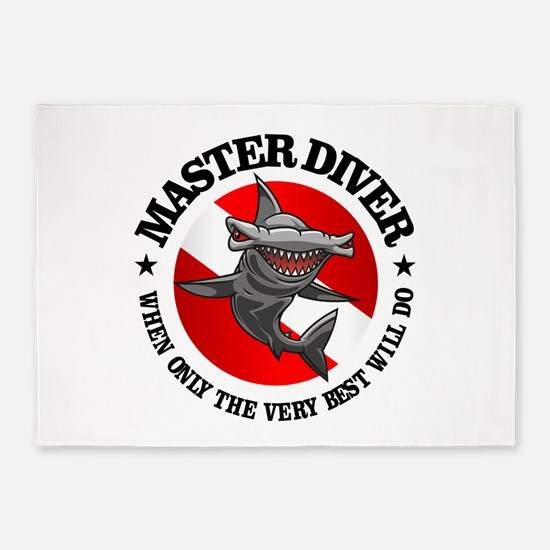 Master Diver (Hammerhead) 5'x7'Area Rug