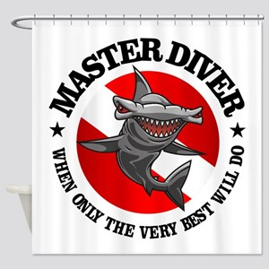 Master Diver (Hammerhead) Shower Curtain