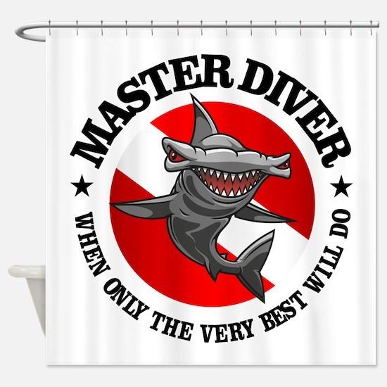 Master Diver (Hammerhead) Shower Curtain