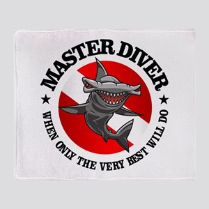 Master Diver (Hammerhead) Throw Blanket