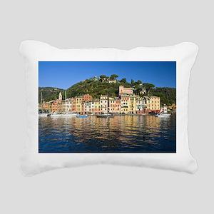 Portofino, Italy Rectangular Canvas Pillow