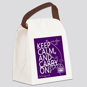 Keep Calm and Edit On Canvas Lunch Bag