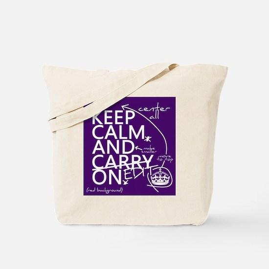 Keep Calm and Edit On Tote Bag