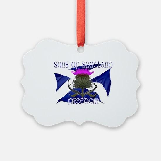 Sons of Scotland Freedom flag design Ornament