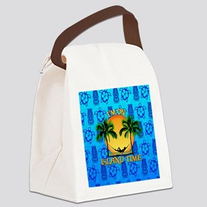 Island Time Tiki Canvas Lunch Bag