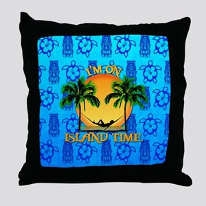 Island Time Tiki Throw Pillow