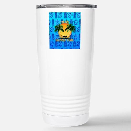 Island Time Tiki Travel Mug