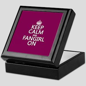 Keep Calm and Fangirl On Keepsake Box